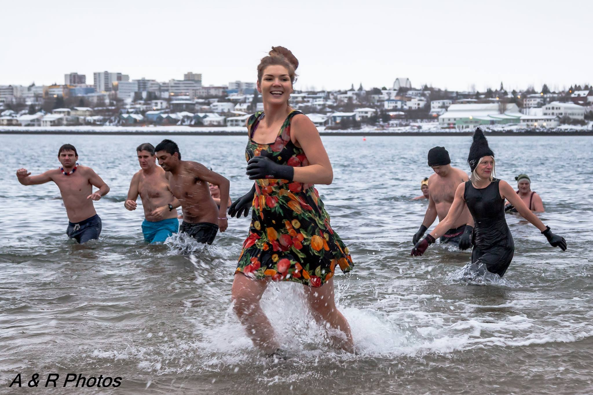 Swim with the locals in the sea at Nauthólsvík in Reykjavík - A&R Photos