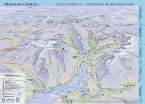 Outdoor Map of Önundafjordur in Westfjords Iceland