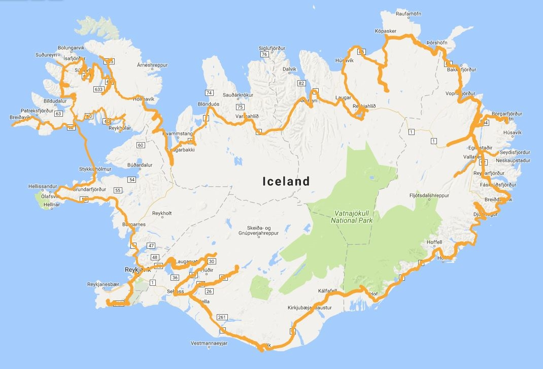 Iceland ring road with 15 days itinerary. Self drive packages with on greenland road map, iceland f roads, iceland scenic views, iceland scenery, iceland itinerary, pacific coast highway 1 california map, reykjavik tourist map, west iceland road map, golden circle reykjavik map, iceland ring road bridge, iceland daylight chart, iceland ring road length, iceland black population, iceland tours, iceland road trip, confederate states of america map, iceland stocks, iceland tourism, iceland points of interest maps, western canada map,
