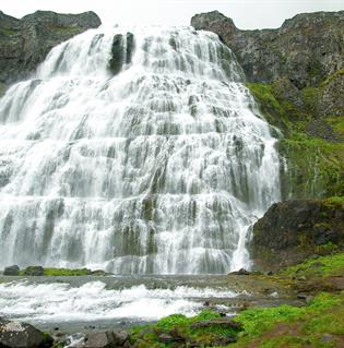 Dynjandi waterfall in West fjords